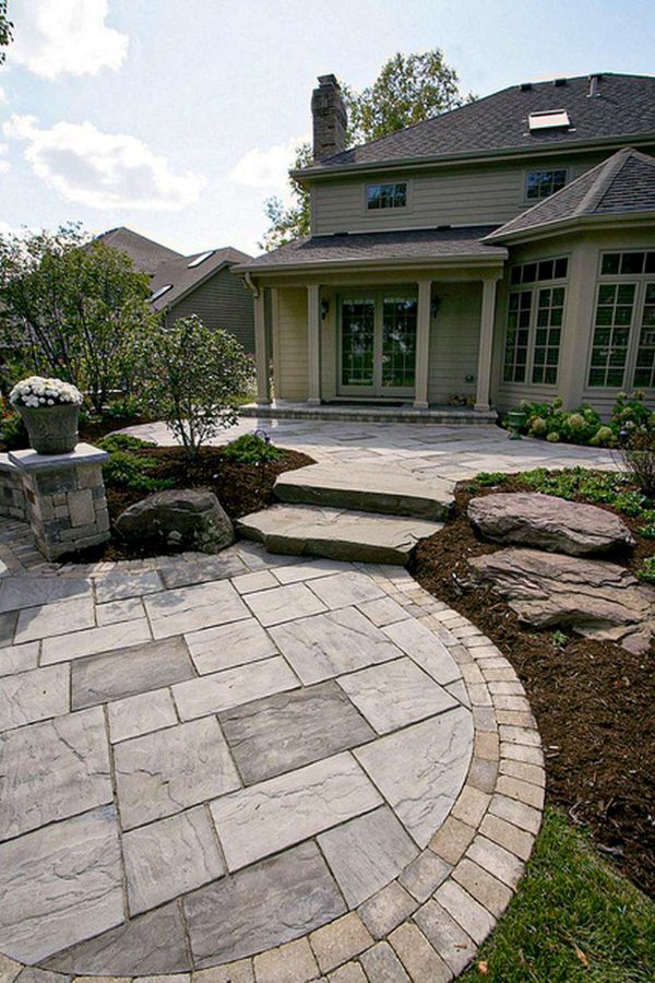 Top Natural Paving Stones Ideas For, Stone Patio Design