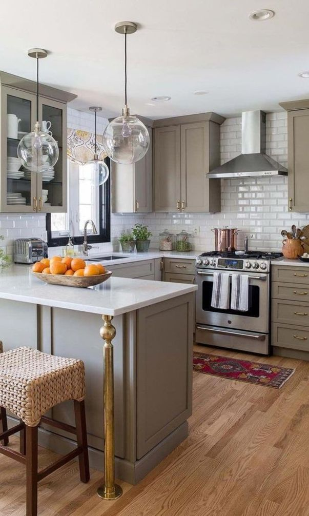 62+Custom Awesome Kitchen Cabinet Models and Designs 2021 ...